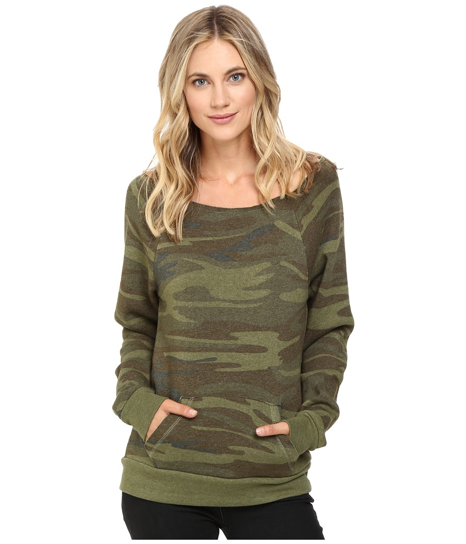 Alternative - Maniac Printed Fleece Sweatshirt (Camo) Womens Sweatshirt