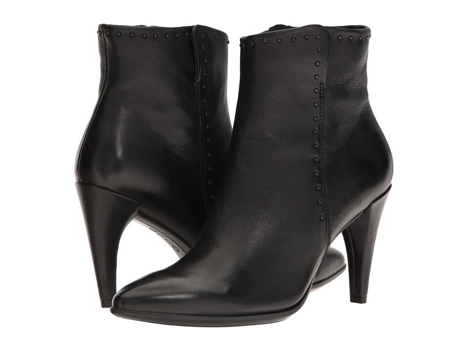 ECCO Shape 75 Rivet Boot (Black Calf Leather) Women