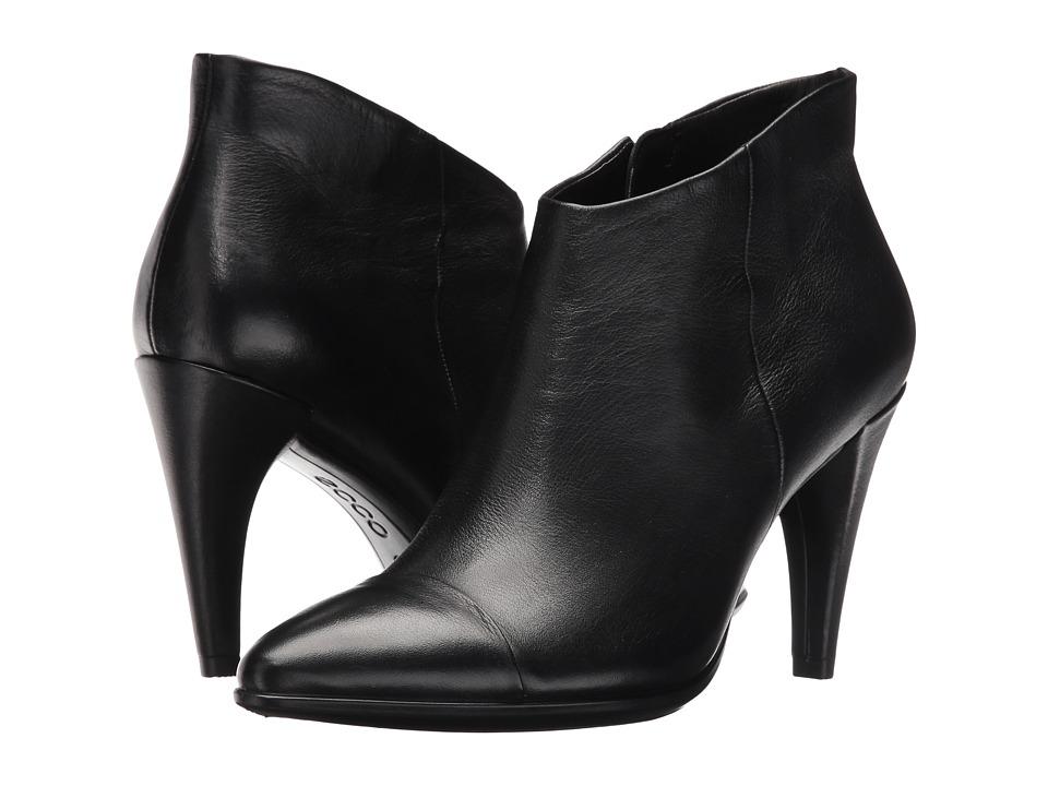 ECCO Shape 75 Low Cut Boot (Black Calf Leather) Women