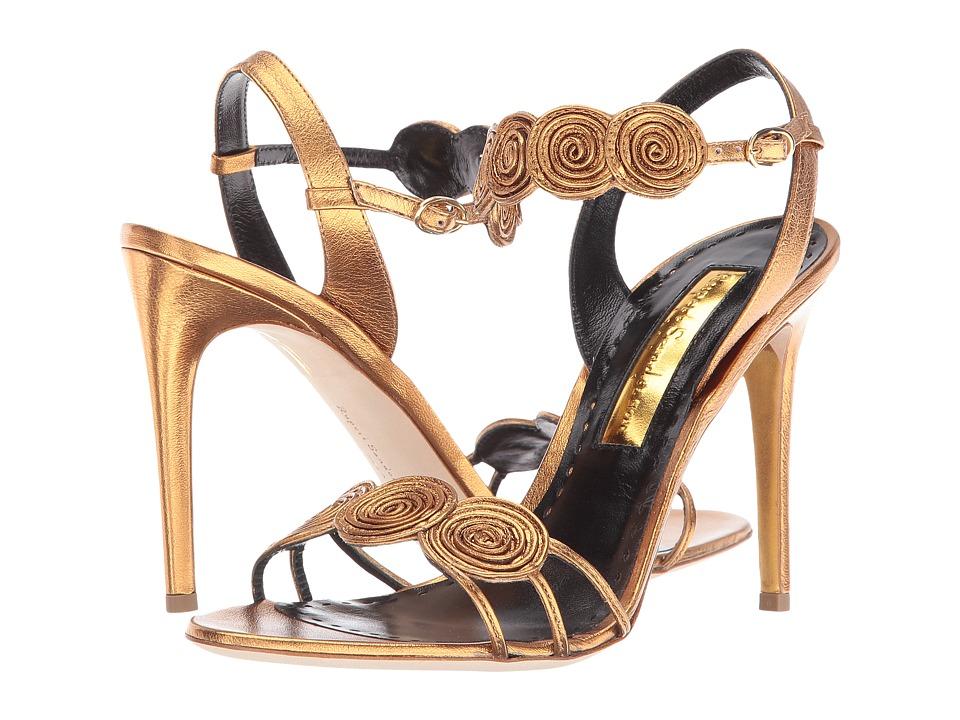Rupert Sanderson Rosetta (Bronze Nappa Laminate) High Heels