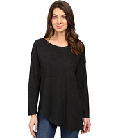 Lanston - Asymmetrical Boyfriend Long Sleeve Top