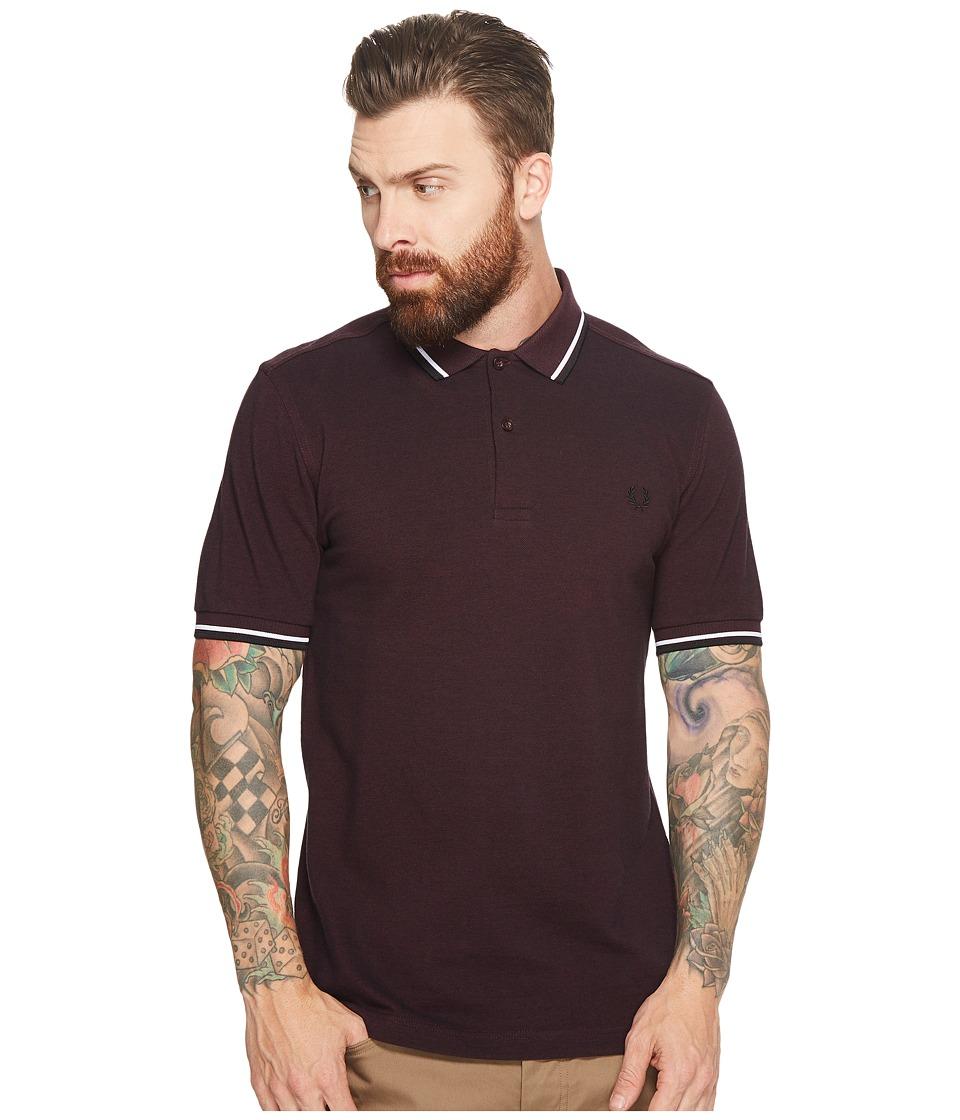 1960s – 1970s Mens Shirts- Dress, Mod, Disco, Turtleneck Fred Perry - Twin Tipped Shirt Mahagany Black OxfordWhiteBlack Mens Short Sleeve Knit $85.00 AT vintagedancer.com