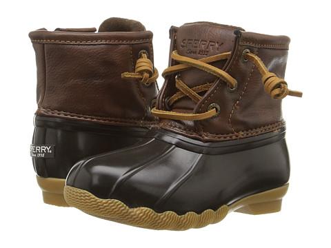 Sperry Kids Saltwater Boot (Toddler/Little Kid) - Brown/Brown