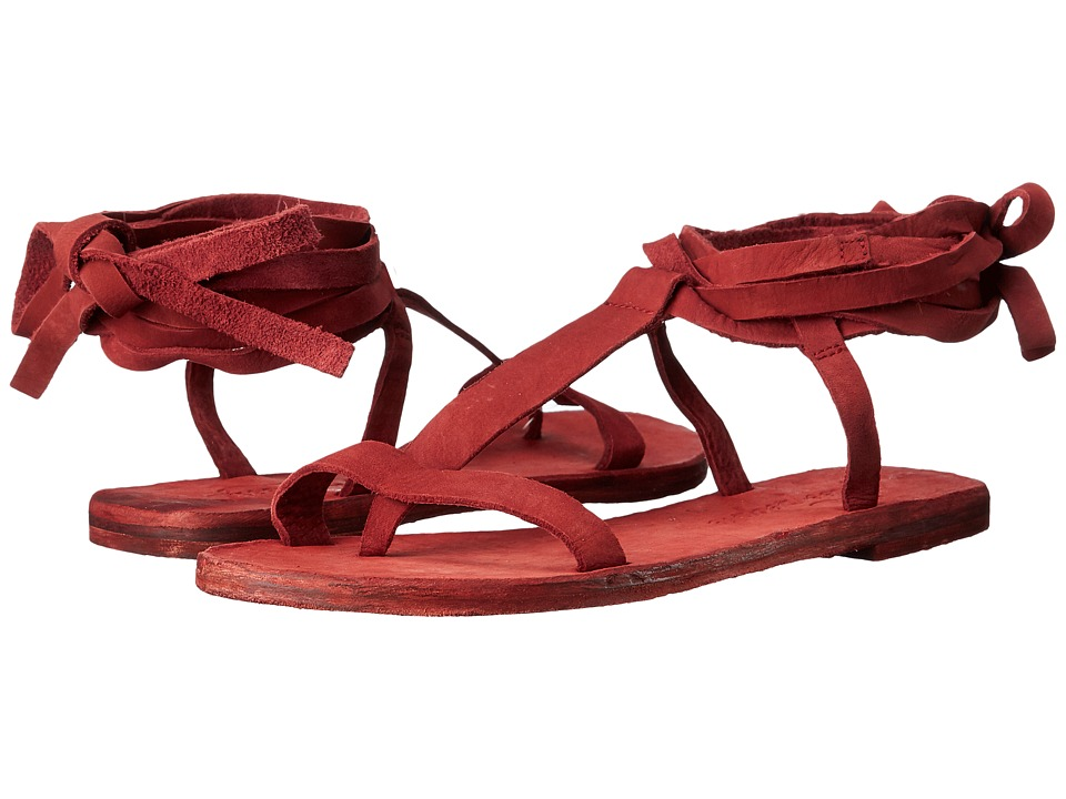 Free People Dahlia Lace Up Sandal Rust Womens Sandals