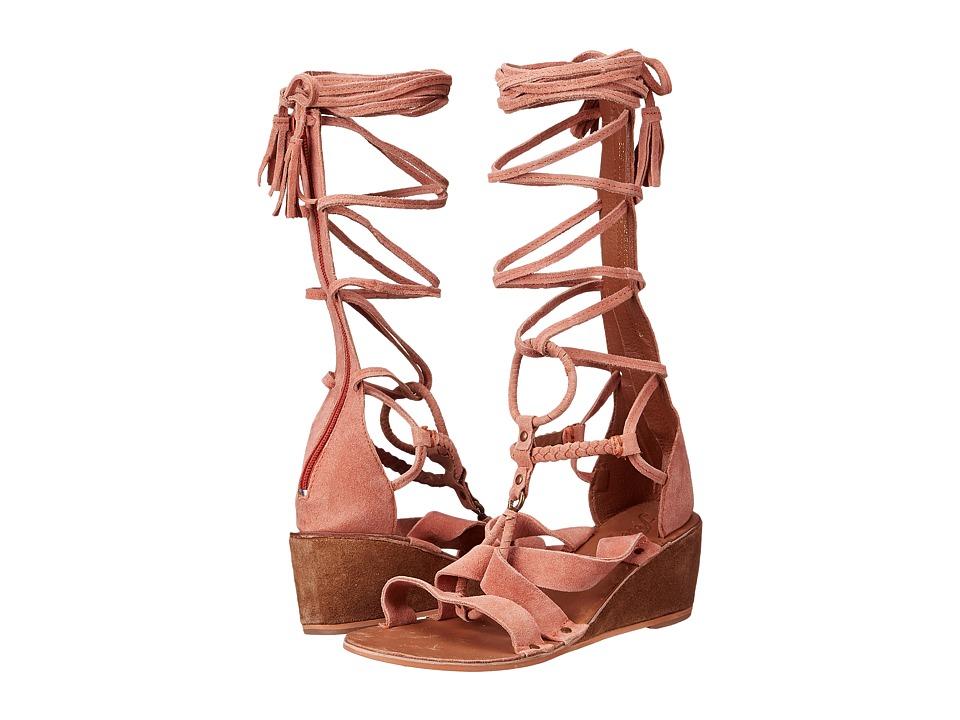 Free People Saltarello Mini Wedge Rust Womens Wedge Shoes