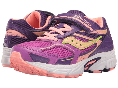 Saucony Kids Cohesion 9 A/C (Little Kid) - Purple/Coral