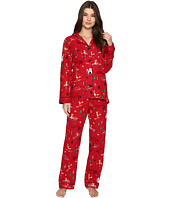 P.J. Salvage - Fox on Skiis Flannel PJ Set