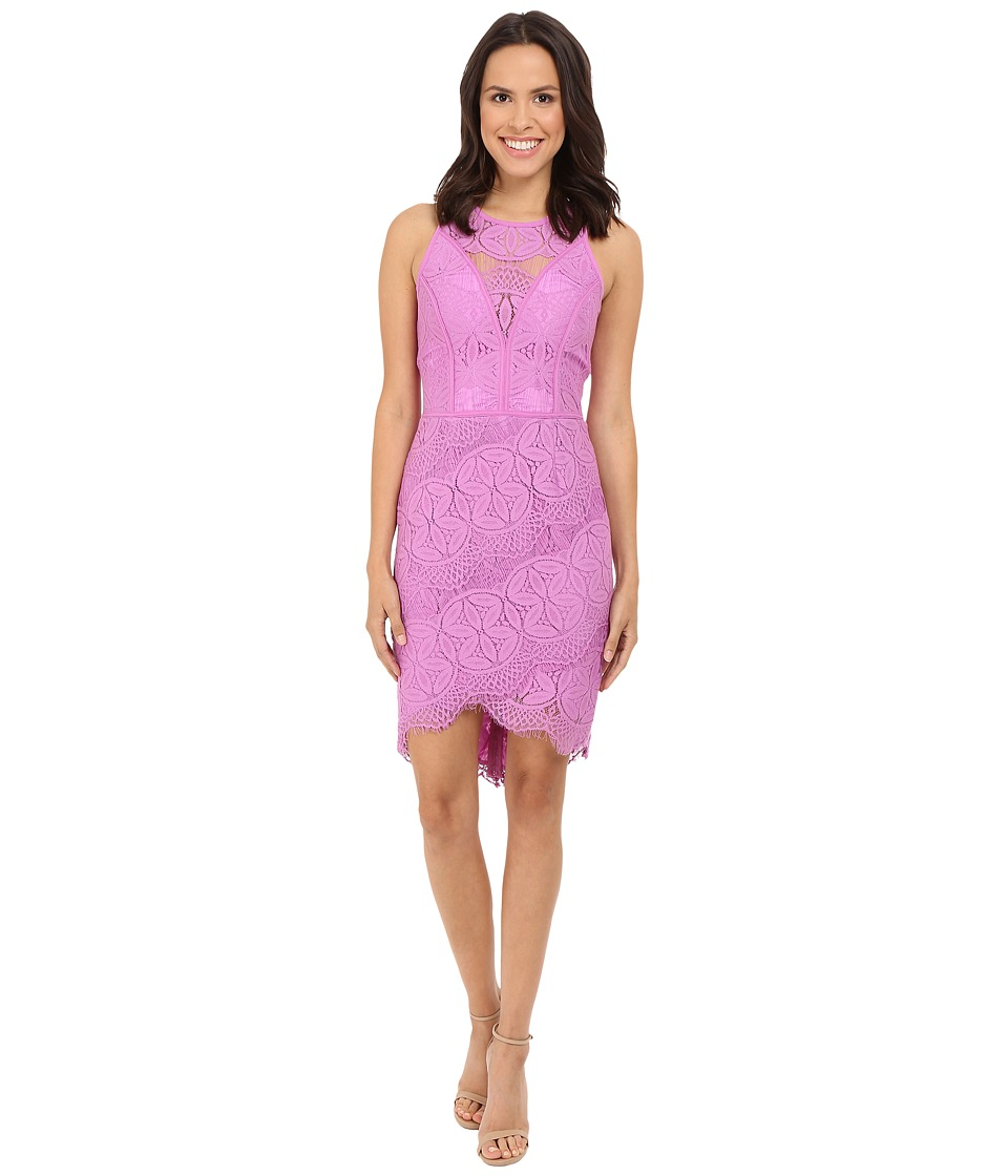 Adelyn Rae Lace Shirt Tail Dress Lilac Womens Dress