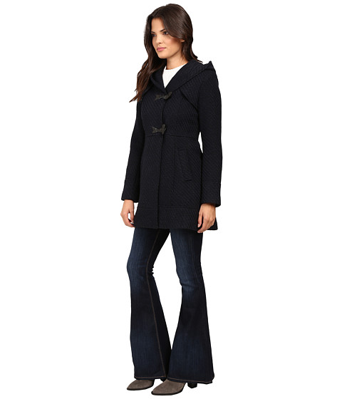 Jessica Simpson Braided Wool Duffle Coat with Hood - Zappos.com