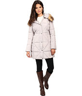 Jessica Simpson - Cinched Waist Puffer w/ Hood and Removable Faux Fur