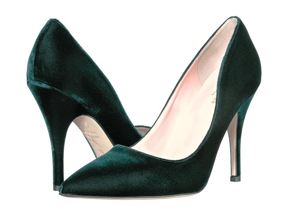Kate Spade New York Licorice (Emerald Green Velvet) High Heel Shoes
