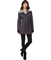 Jessica Simpson - Faux Fur Lined Hood Belted Softshell