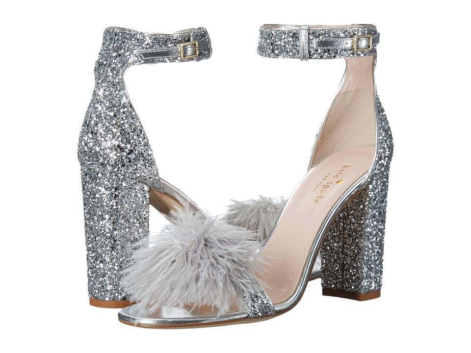 Kate Spade New York Ilona (Silver Glitter/Metallic Nappa) Women