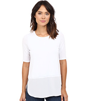 HEATHER - Silk Round Hem 3/4 Sleeve Top