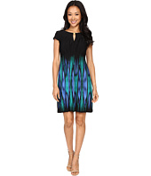 Tahari by ASL Petite - Petite Printed Seamed Matte Jersey Dress