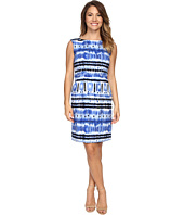Tahari by ASL Petite - Petite Ikat Linen Sheath Dress