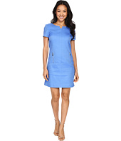 Tahari by ASL Petite - Petite Basket Weave Drop Waist Dress