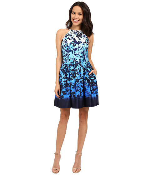 Vince Camuto Printed Scuba Sleeveless Fit and Flare