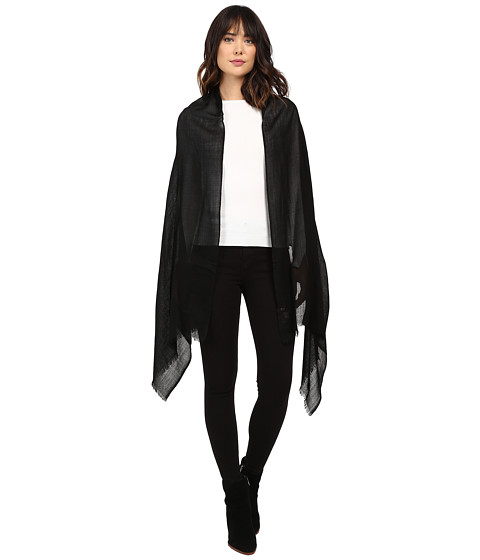 Love Quotes Travel Weight Cashmere Scarf - Black