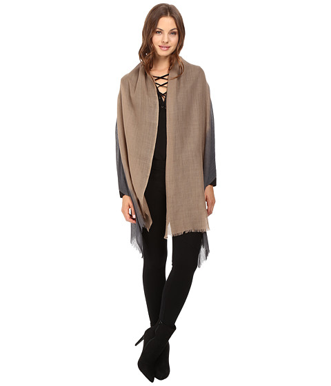 Love Quotes Travel Weight Cashmere Dip-Dye Scarf - Muse/Cement