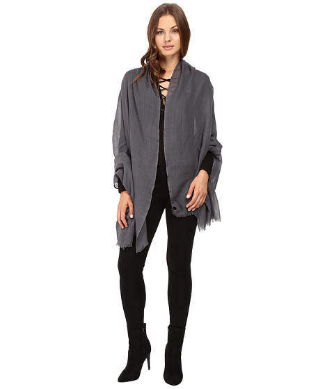 Love Quotes Travel Weight Cashmere Wrap Scarf - Cement