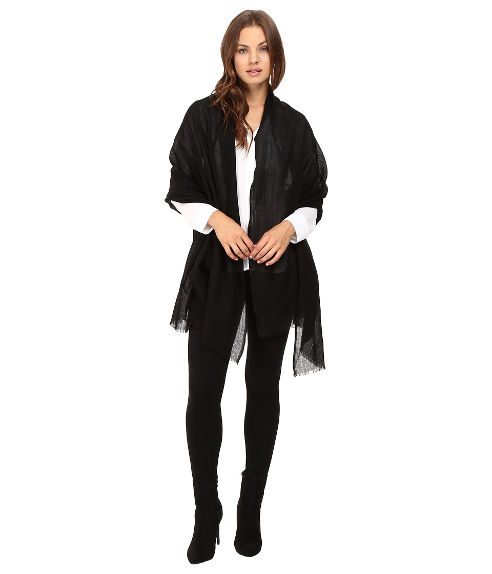 Love Quotes Travel Weight Cashmere Wrap Scarf (Black) Sca...