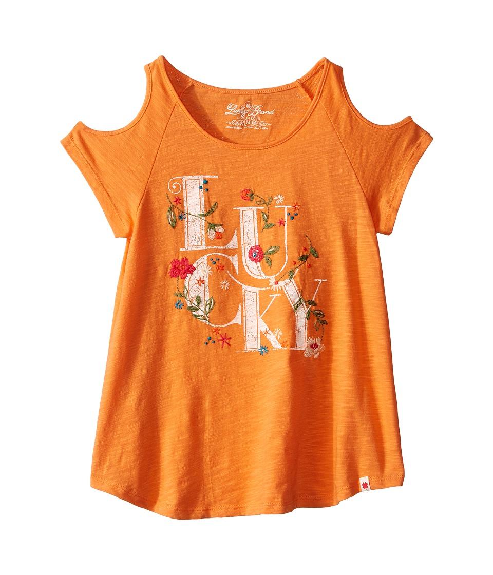 Lucky Brand Kids Anna Lucky Tee (Big Kids) (Melon) Girl