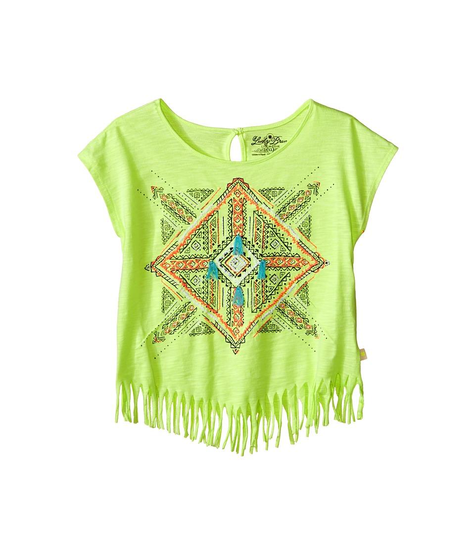 Lucky Brand Kids Aztec Mandala Fringe Tee Big Kids Star Fruit Girls T Shirt