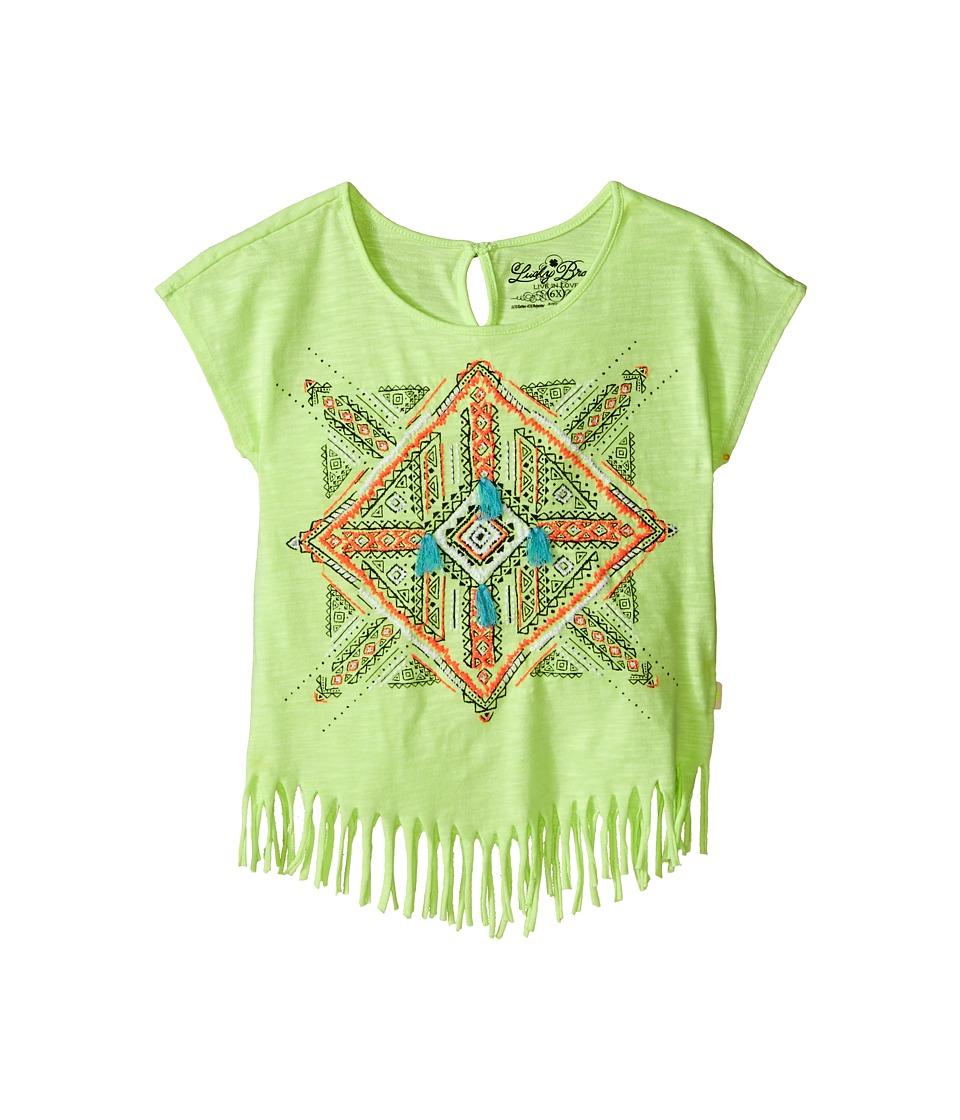 Lucky Brand Kids Aztec Mandala Fringe Tee Little Kids Star Fruit Girls T Shirt