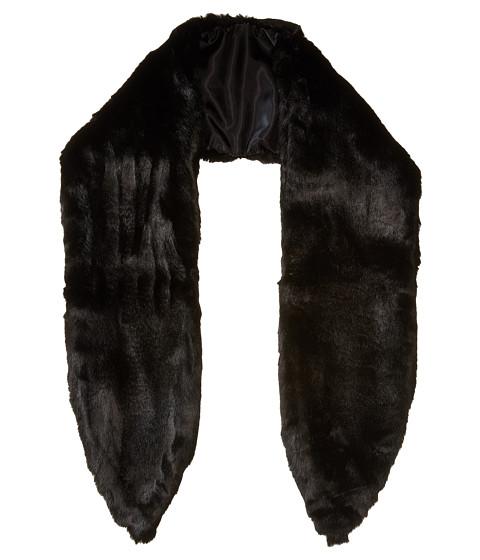 Michael Stars Faux-Real Faux Fur Scarf - Black