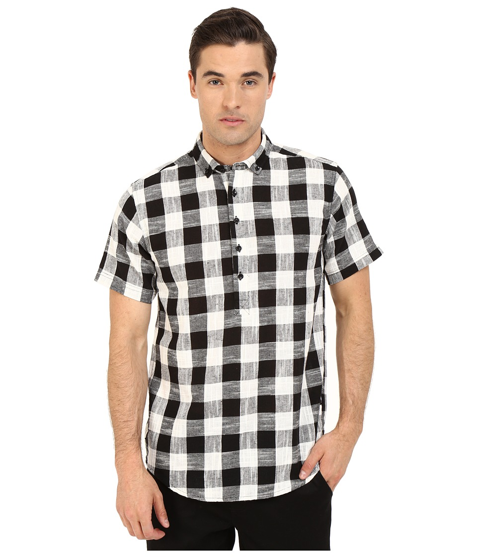 Publish Ace Popover Woven Black Mens Short Sleeve Button Up