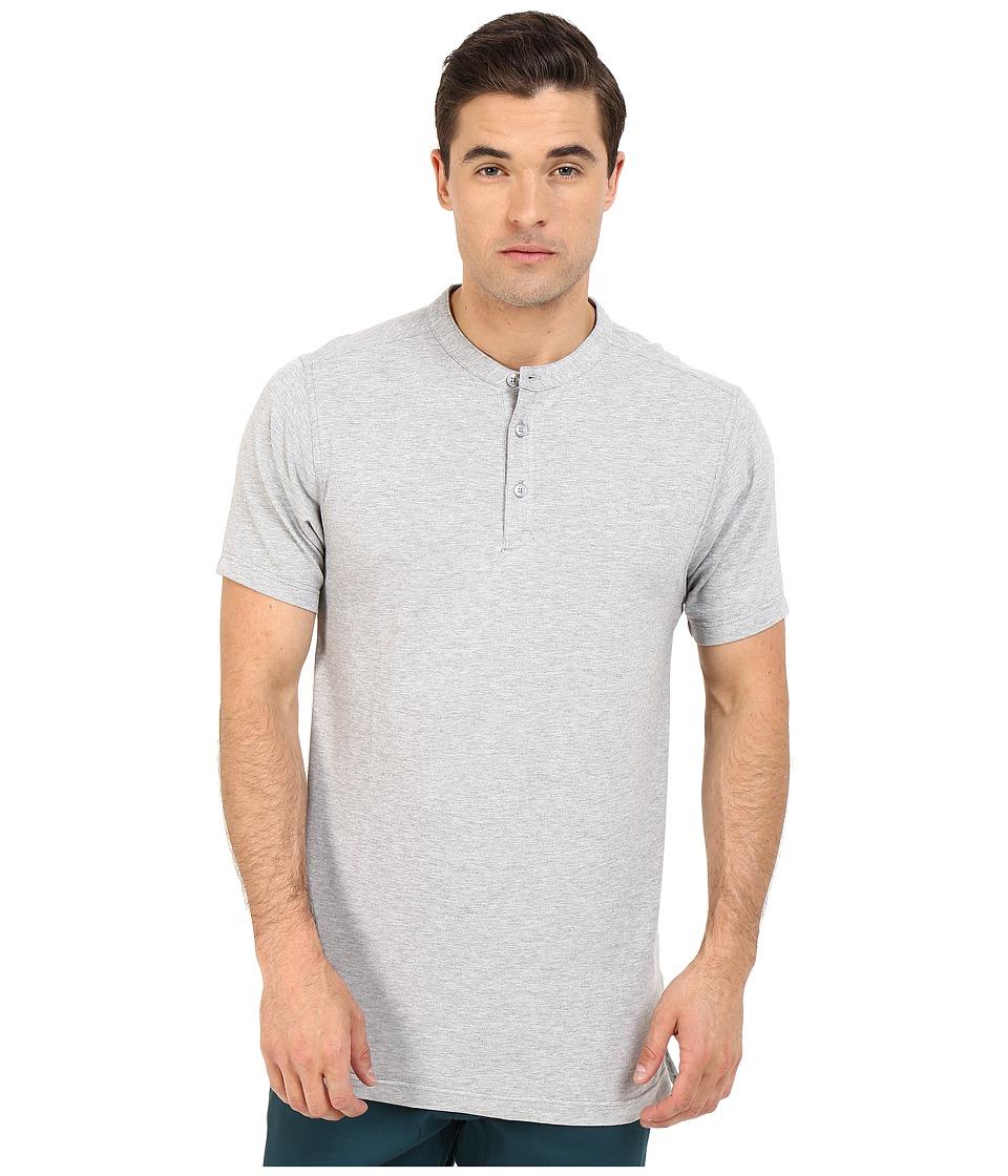 Publish Chan Mandarin Collar Polo Knit Tee Heather Mens T Shirt