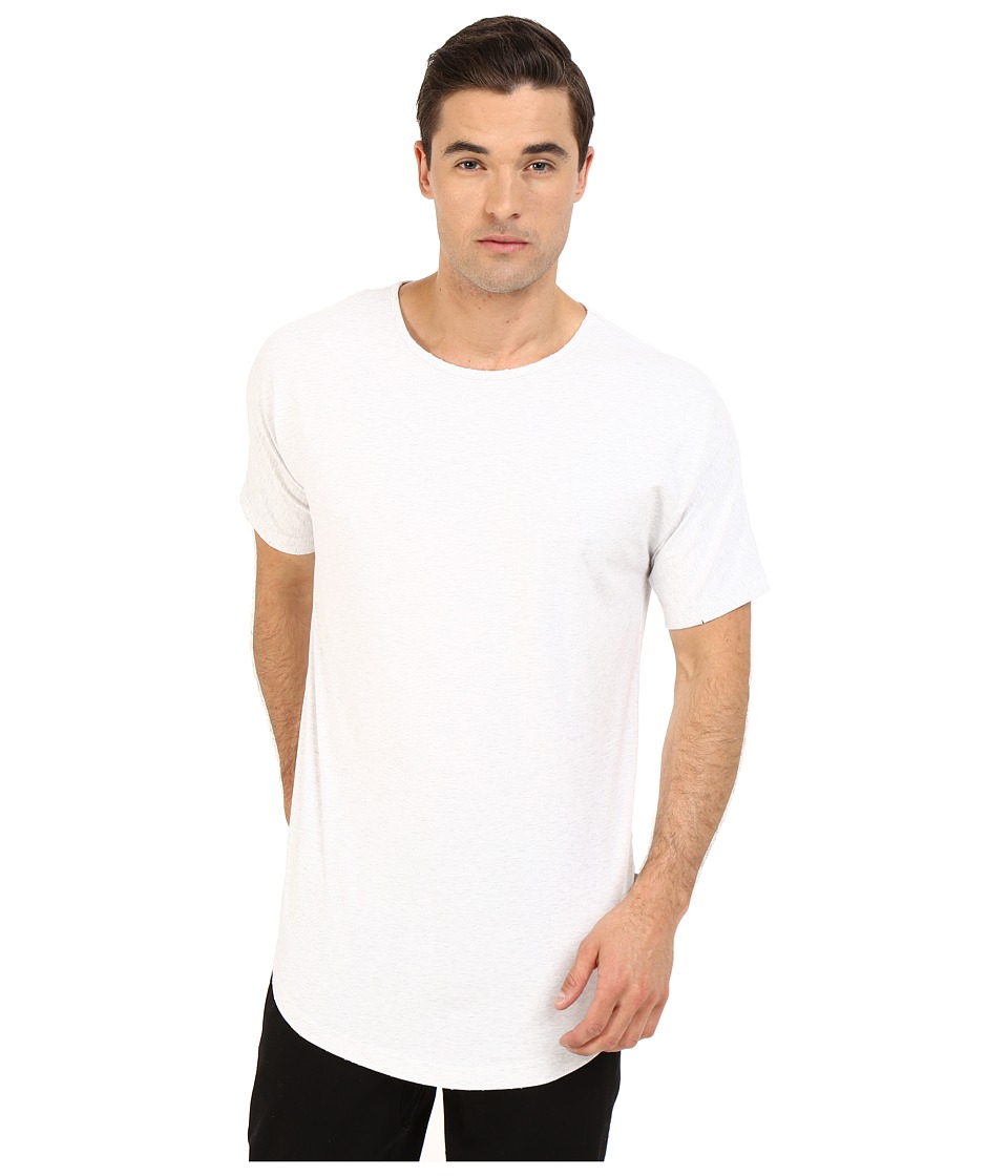 Publish Beckham Distressed Scallop Bottom Tee Ash Heather Mens T Shirt