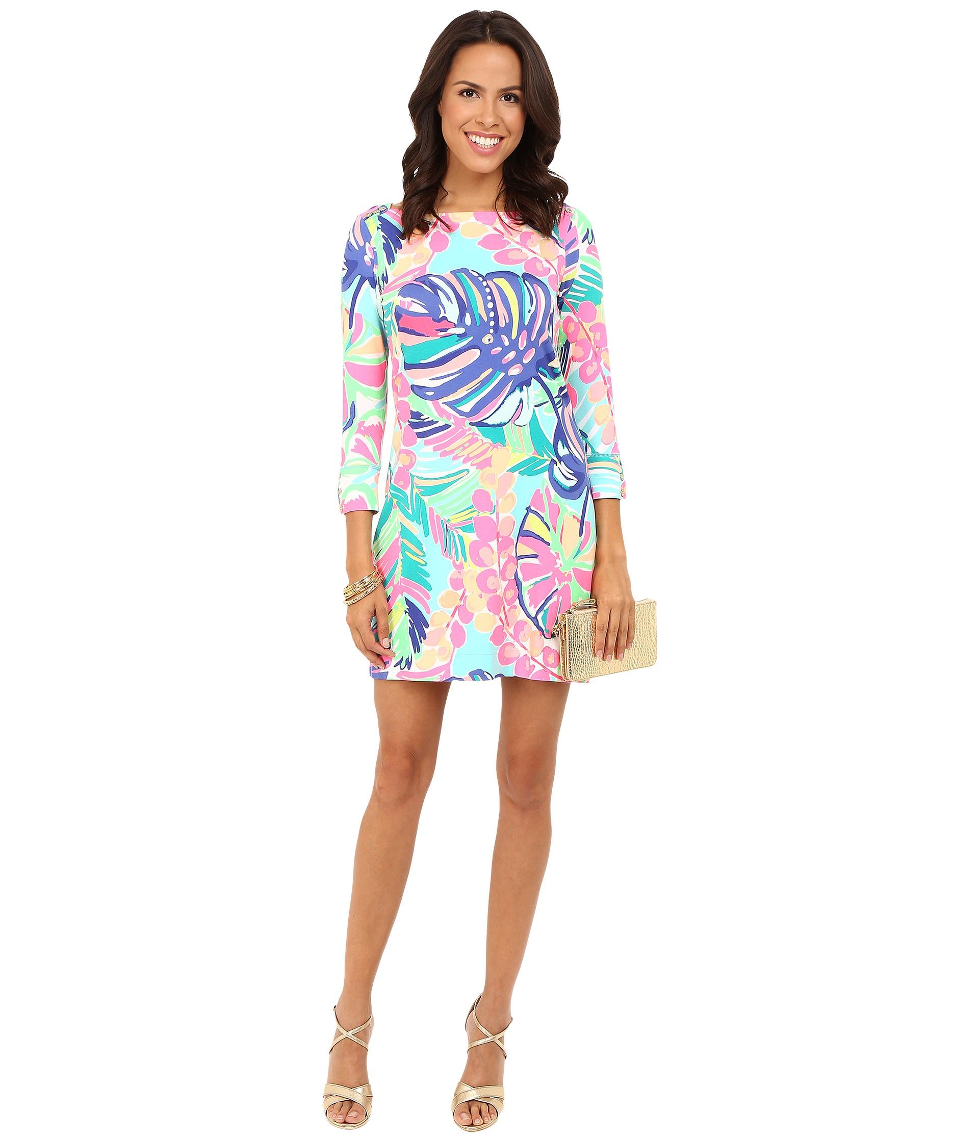 Sophie Dress: Lilly Pulitzer UPF 50+ Sophie Dress Multi Exotic Garden
