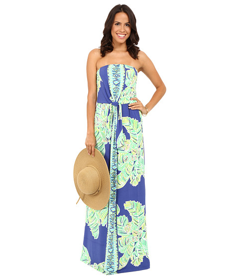 Lilly Pulitzer - Rosalina Maxi Dress (Iris Blue Latitude Adjustment) Women's Dress