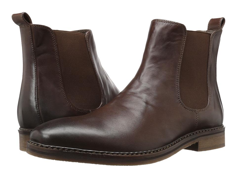 Nunn Bush Hampton Plain Toe Double Gore Slip-On Boot (Brown) Men
