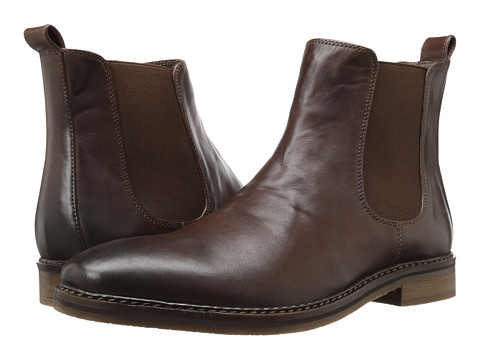 Nunn Bush Hampton Plain Toe Double Gore Slip-On Boot - Brown