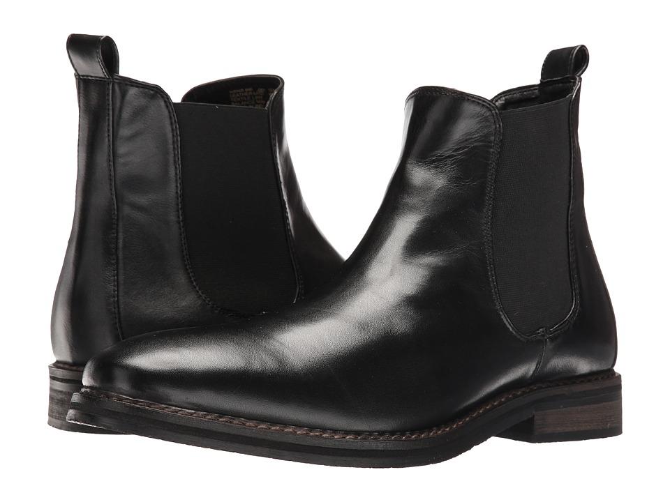 Nunn Bush Hampton Plain Toe Double Gore Slip-On Boot (Black) Men
