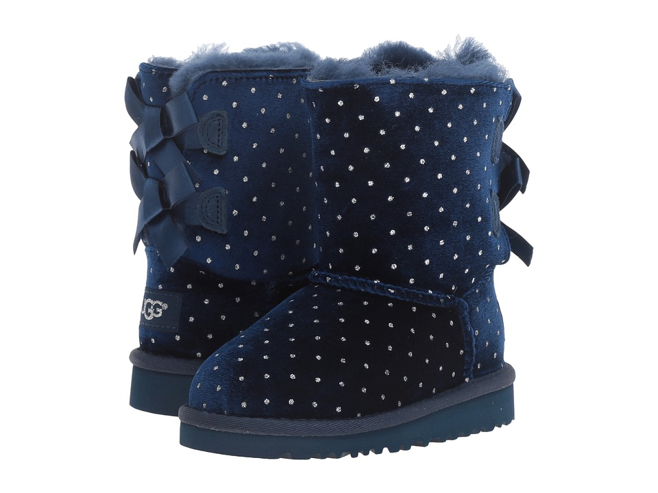 UGG Kids Bailey Bow Starlight (Toddler/Little Kid) (Navy) Girls Shoes