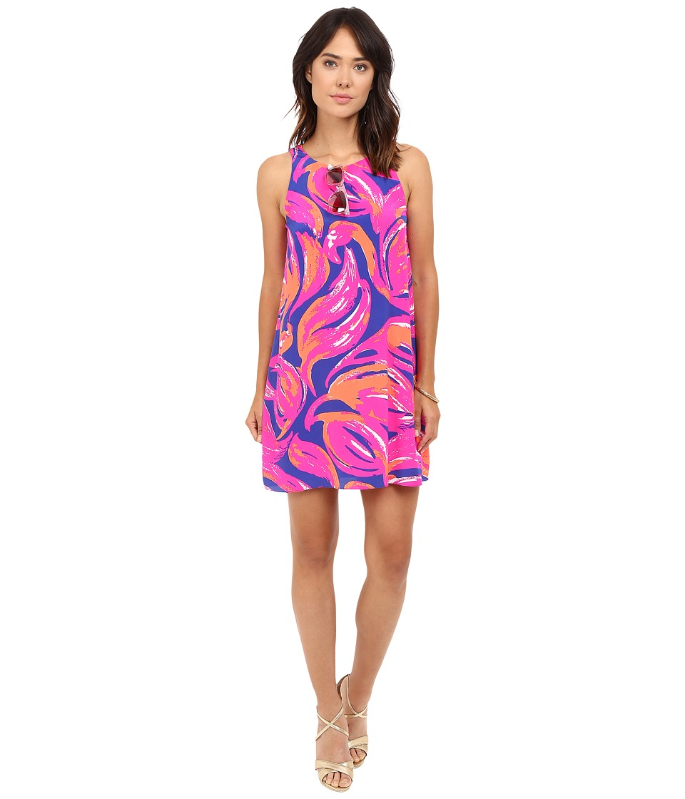 Lilly Pulitzer Jackie Shift Dress (Bomber Blue Plume Bloom) Women