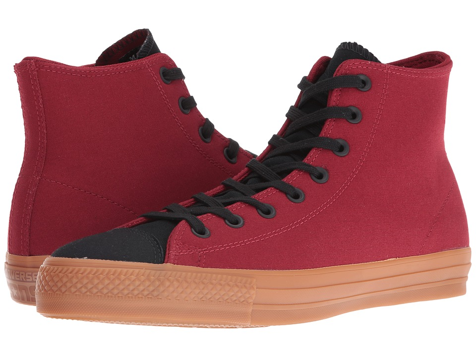 Converse Chuck Taylor All Star Pro Suede Backed Canvas Mid (Back Alley Brick/Black/Gum) Shoes