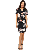 Adrianna Papell - Pleat Detail Printed Sheath Dress