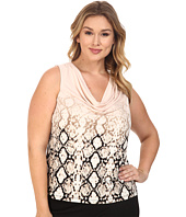 Calvin Klein Plus - Plus Size Printed Cowl Neck Sleeveless Top