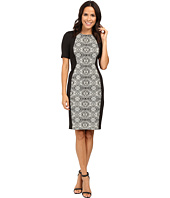 Adrianna Papell - Lined Geo Bonded Lace Sheath Dress