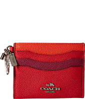 COACH - Color Block Leather Charm Flat Card Case