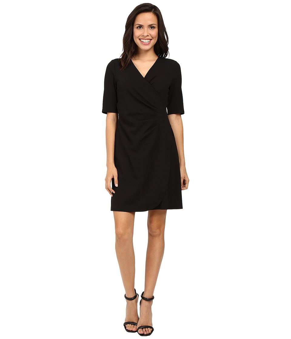 Adrianna Papell - V-Neck Side Rouched Wrap Dress