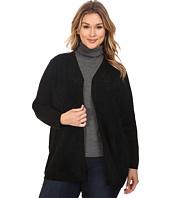 Calvin Klein Plus - Plus Size Cardigan w/ Suede Front