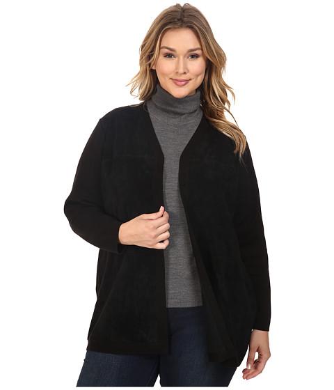 Calvin Klein Plus Plus Size Cardigan w/ Suede Front