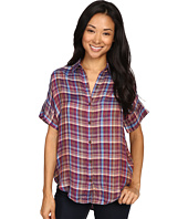 Lucky Brand - Short Sleeve Plaid Top