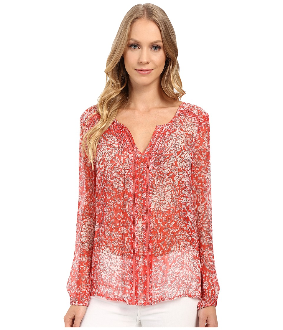 Lucky Brand - Red Vines Top (Red Multi) Women